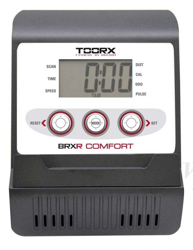Cyclette orizzontale BRX-RCOMFORT della Toorx: console