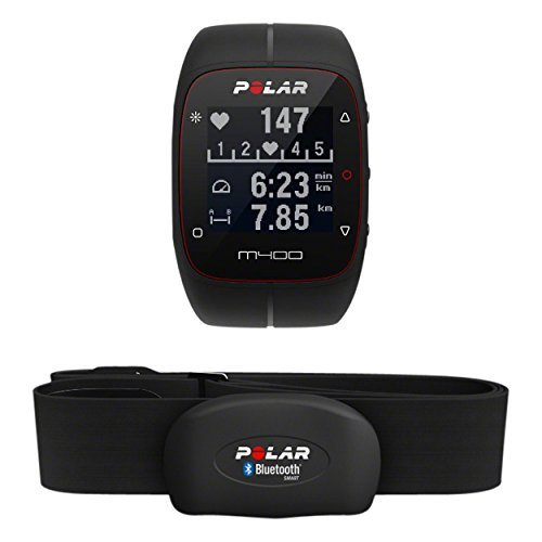 Cardiofrequenzimetro Polar M400 con Gps e fascia cardio bluetooth. Lo puoi acquistare su Amazon.it