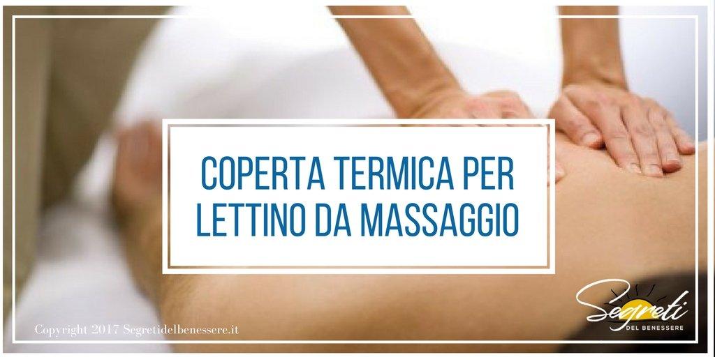 Coperta termica per lettino da massaggio