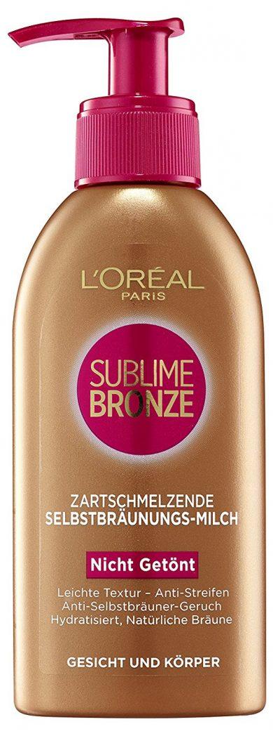 L'Oréal Paris, Latte autoabbronzante Sublime Bronze