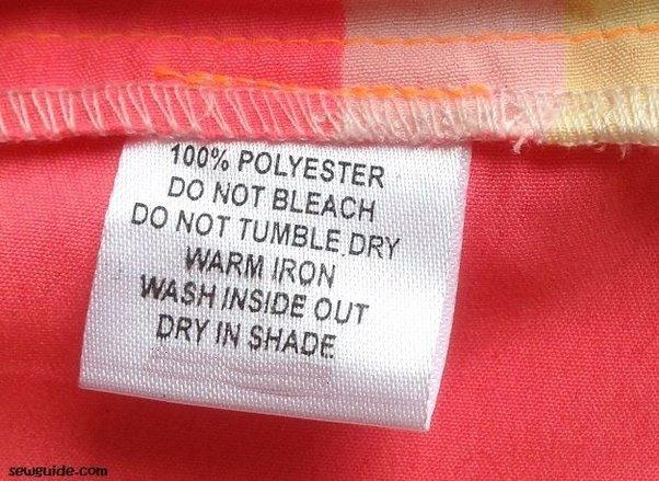 etichetta poliestere 100%